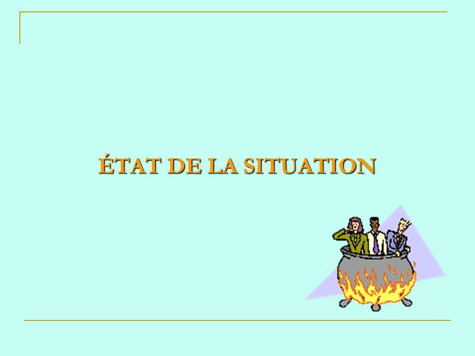ÉTAT DE LA SITUATION