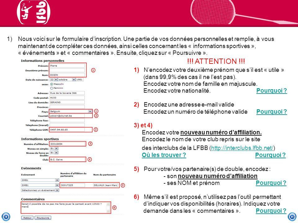 1)Nous voici sur le formulaire dinscription.