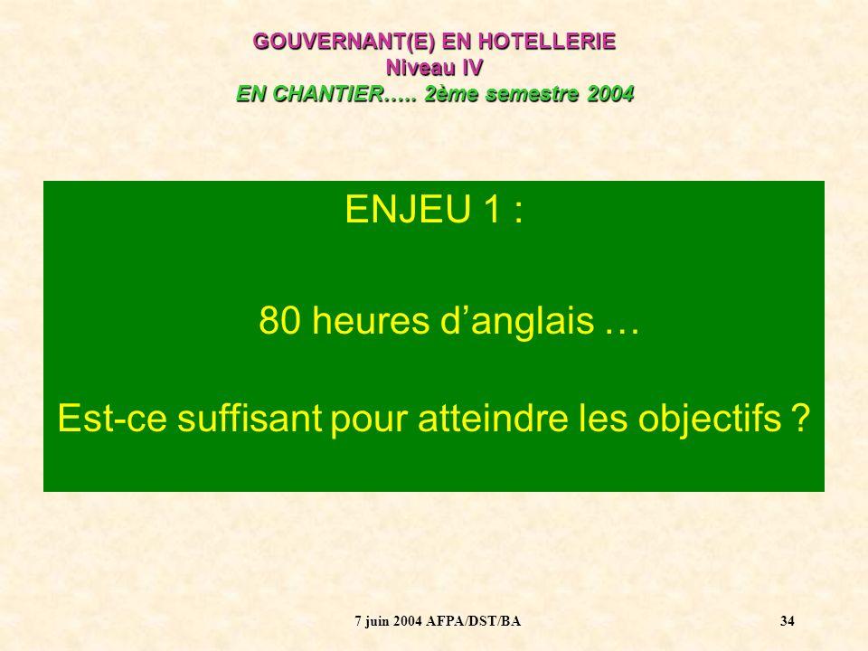 7 juin 2004 AFPA/DST/BA35 ENJEU 2 : Que veut dire « évaluer les langues » dans le nouveau système de certification .