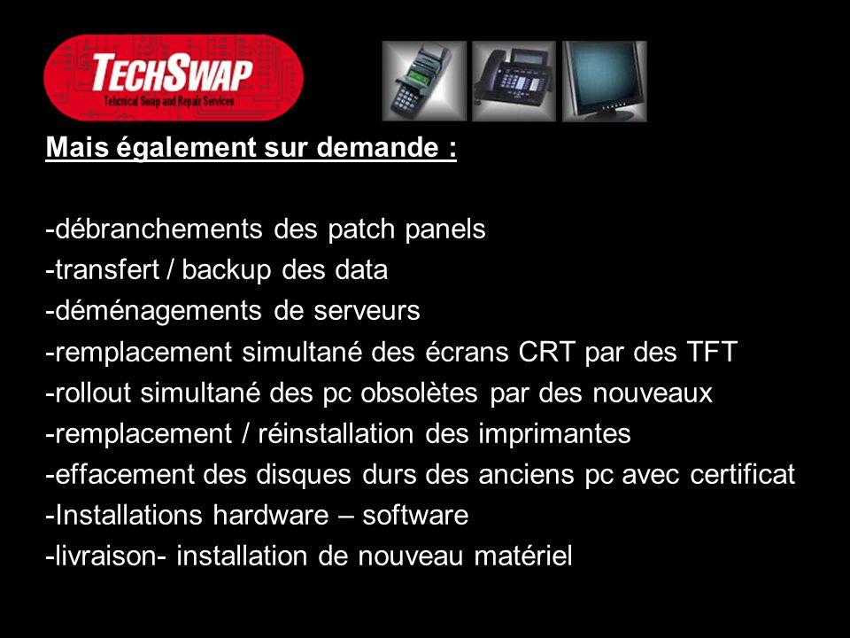 Nous contacter : Email : info@techswap.beinfo@techswap.be Téléphone : 02 251 45 58 Site web : www.techswap.be