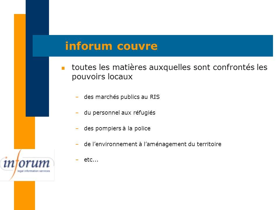 inforum est accessible n sur PubliLink n sur internet n par e-mail : info@inforum.be n par téléphone : 02/238.50.70 si vous le désirez, une démonstration dinforum est réalisable dans vos locaux