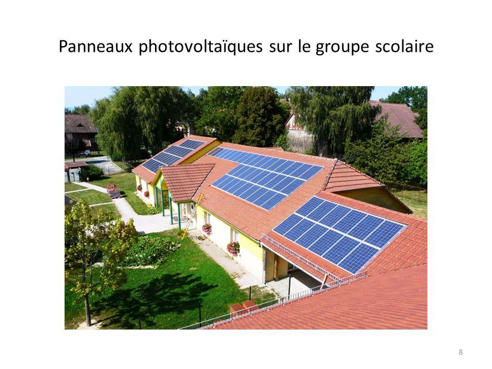 Panneaux photovoltaïques sur le groupe scolaire 8