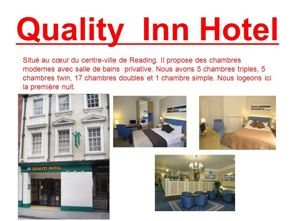 Quality Inn Hotel Situé au cœur du centre-ville de Reading. Il propose des chambres modernes avec salle de bains privative. Nous avons 5 chambres trip