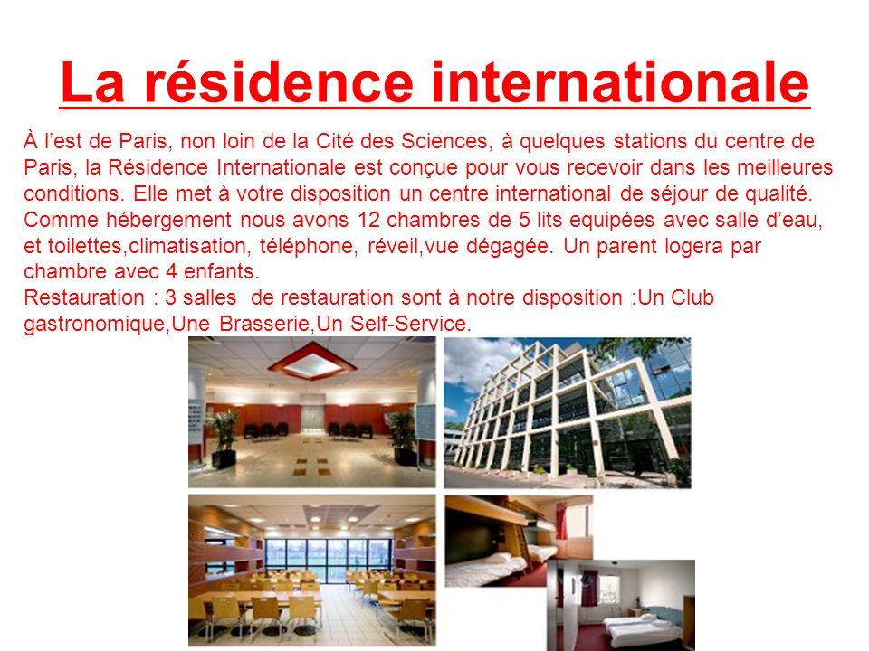 La résidence internationale À lest de Paris, non loin de la Cité des Sciences, à quelques stations du centre de Paris, la Résidence Internationale est