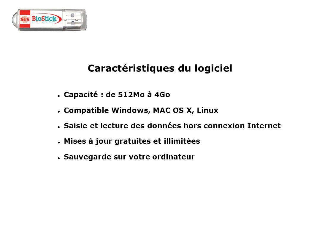 Capacité : de 512Mo à 4Go Compatible Windows, MAC OS X, Linux Saisie et lecture des données hors connexion Internet Mises à jour gratuites et illimité