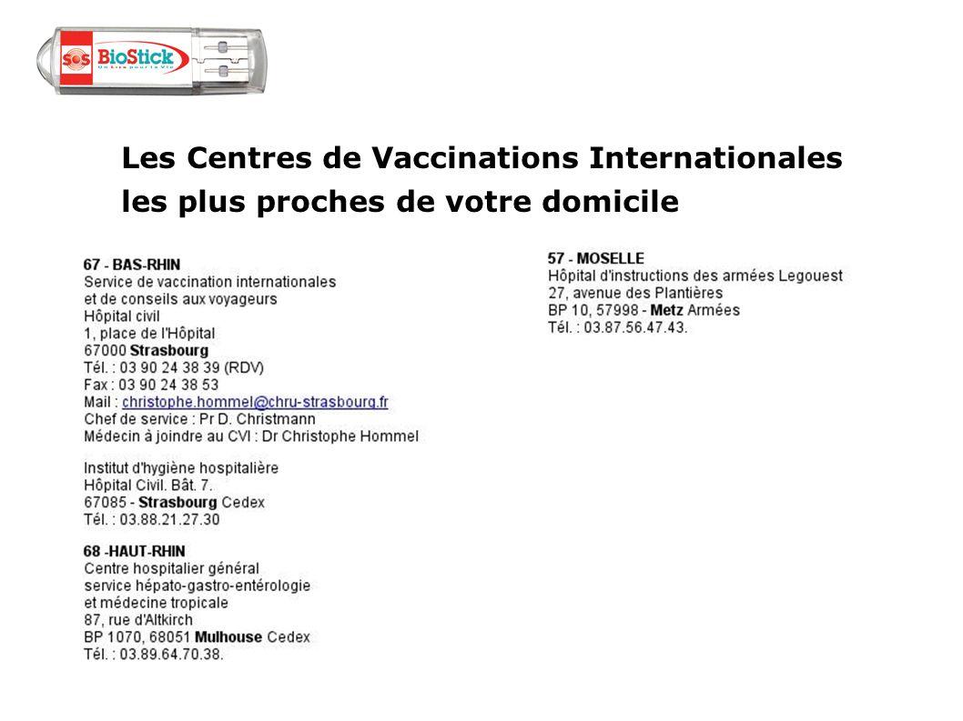 Les Centres de Vaccinations Internationales les plus proches de votre domicile