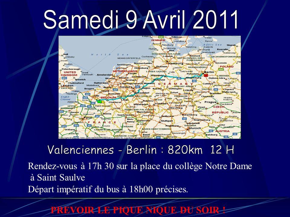 Rendez-vous à 17h 30 sur la place du collège Notre Dame à Saint Saulve Départ impératif du bus à 18h00 précises.