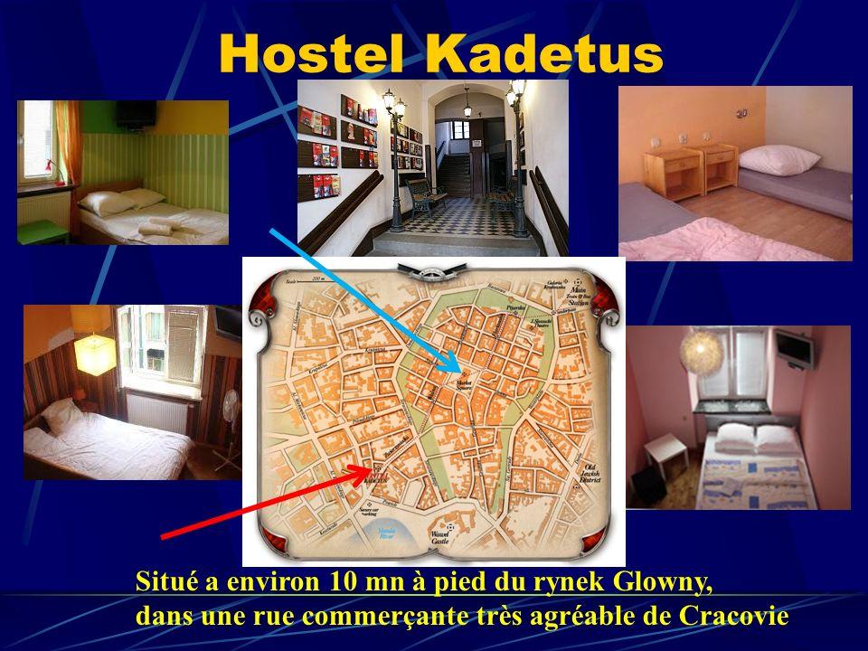 Hostel Kadetus Situé a environ 10 mn à pied du rynek Glowny, dans une rue commerçante très agréable de Cracovie