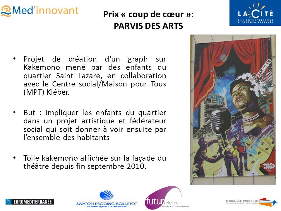 Prix « coup de cœur »: PARVIS DES ARTS Projet de création d un graph sur Kakemono mené par des enfants du quartier Saint Lazare, en collaboration avec le Centre social/Maison pour Tous (MPT) Kléber.