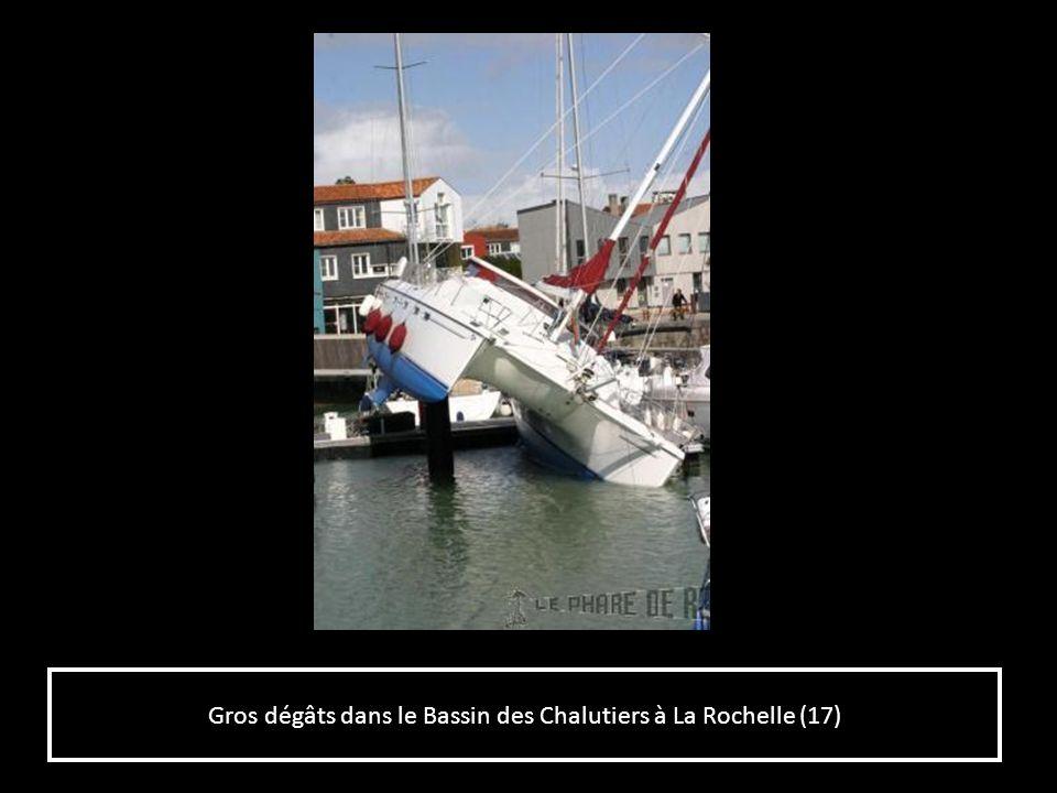 Gros dégâts dans le Bassin des Chalutiers à La Rochelle (17)
