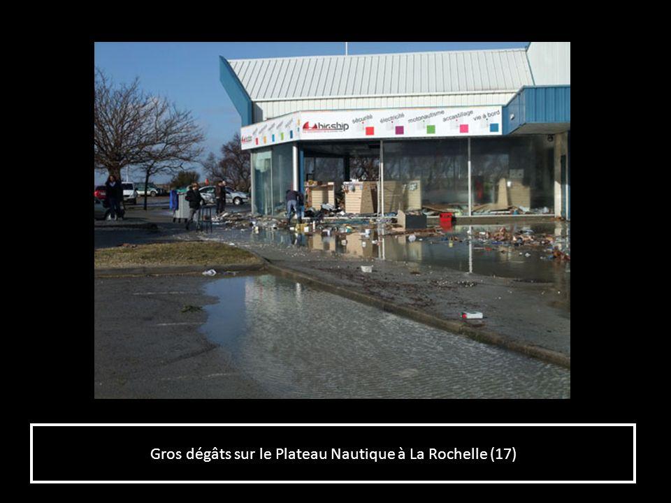 Gros dégâts sur le Plateau Nautique à La Rochelle (17)