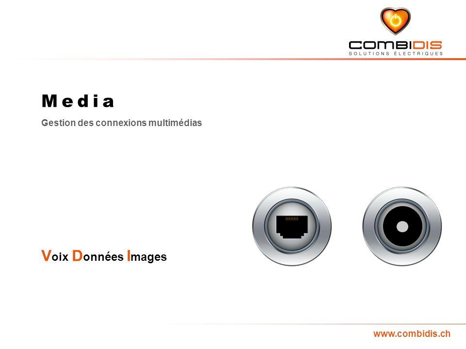 www.combidis.ch Media Gestion des connexions multimédias V oix D onnées I mages