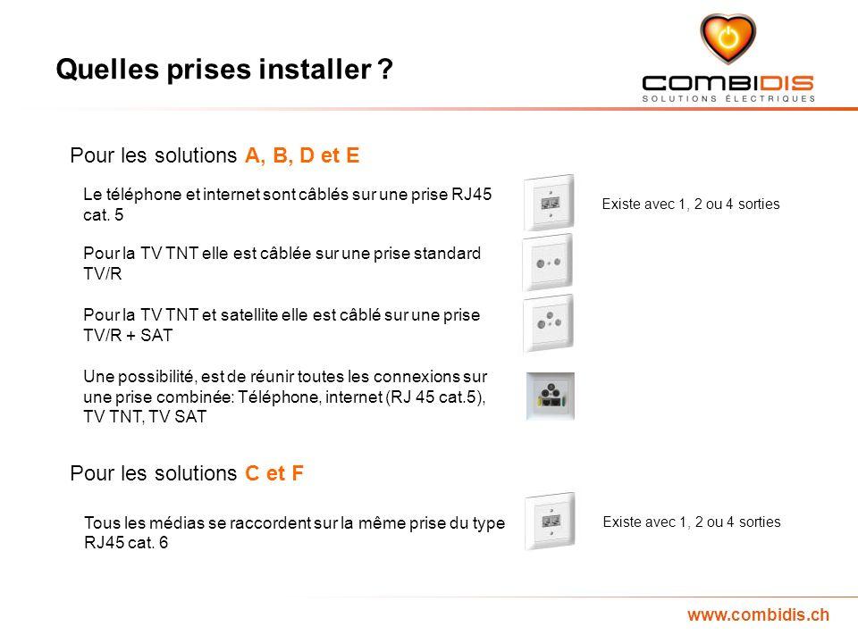 www.combidis.ch Quelles prises installer .