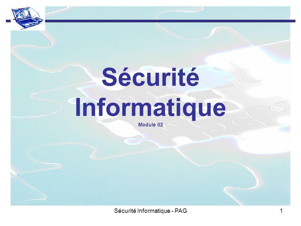 Sécurité Informatique - PAG1 Sécurité Informatique Module 02