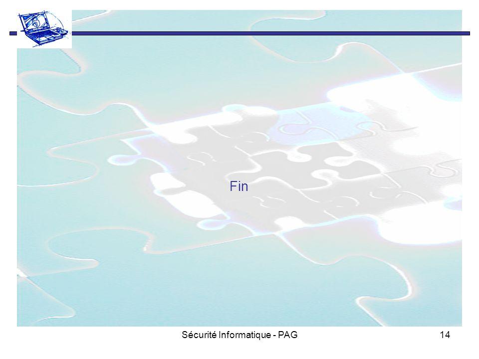 Sécurité Informatique - PAG14 Fin