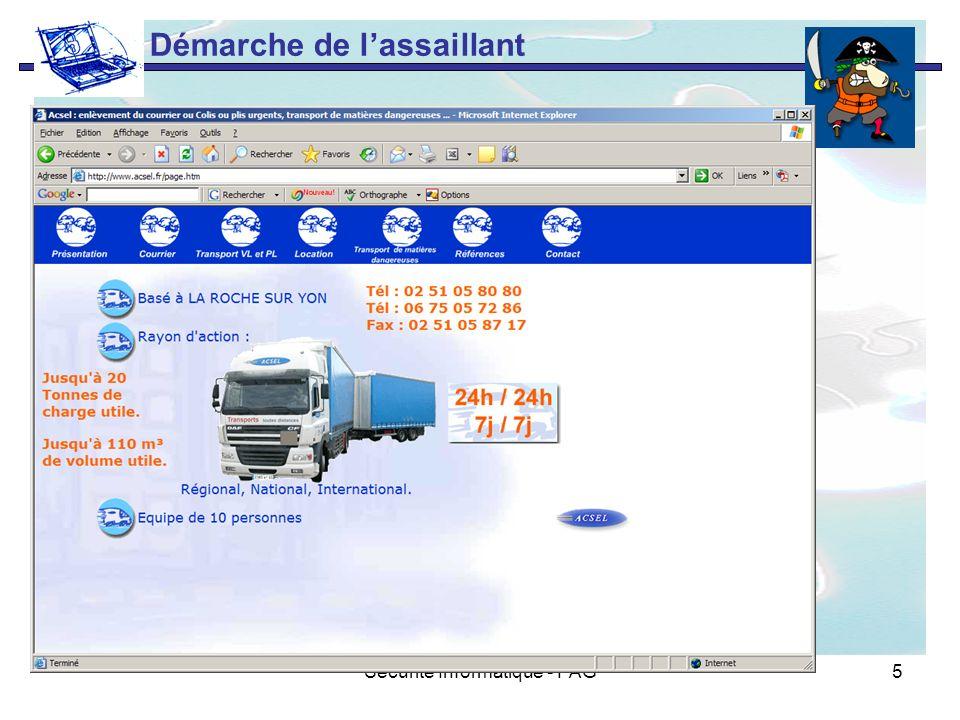 Sécurité Informatique - PAG5 Démarche de lassaillant