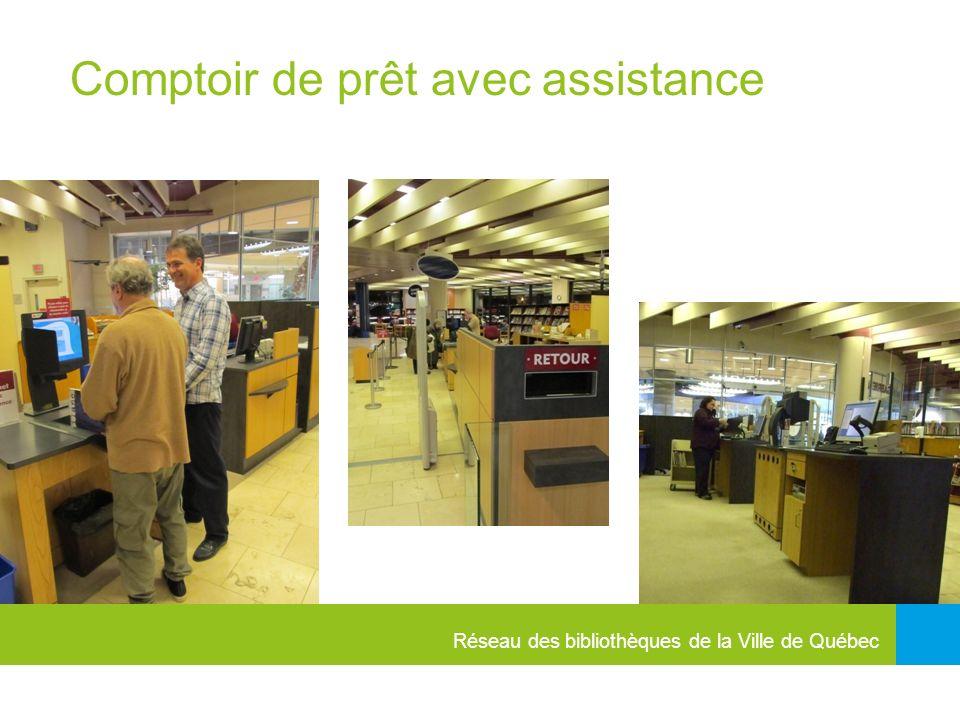 Réseau des bibliothèques de la Ville de Québec Comptoir de prêt avec assistance