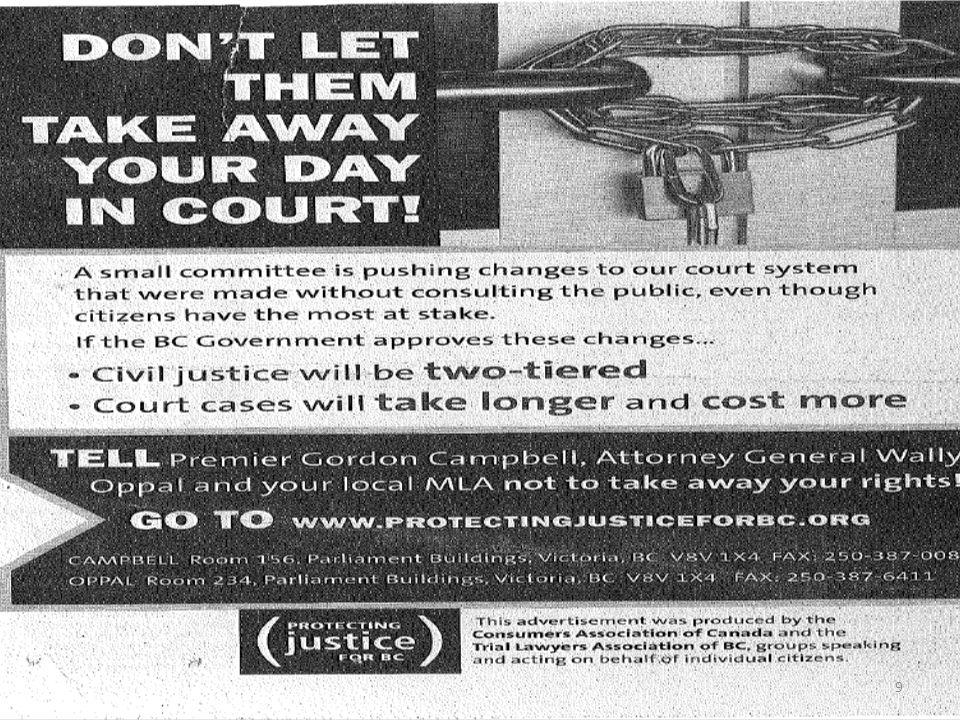 La première vague Centres daccès à la justice – Évaluation, renseignements, aiguillage vers les Services Projet pilote sur la Cour provinciale des pet