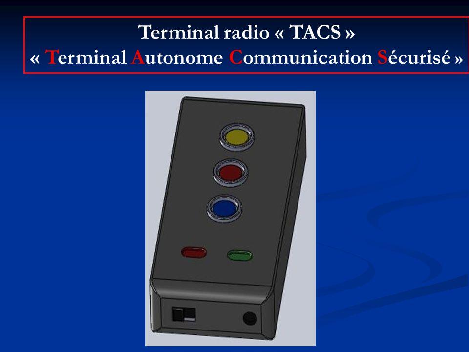 Terminal radio « TACS » « Terminal Autonome Communication Sécurisé »