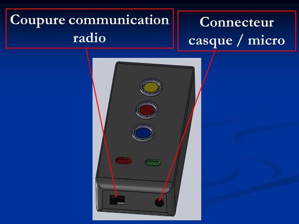 Coupure communication radio Connecteur casque / micro