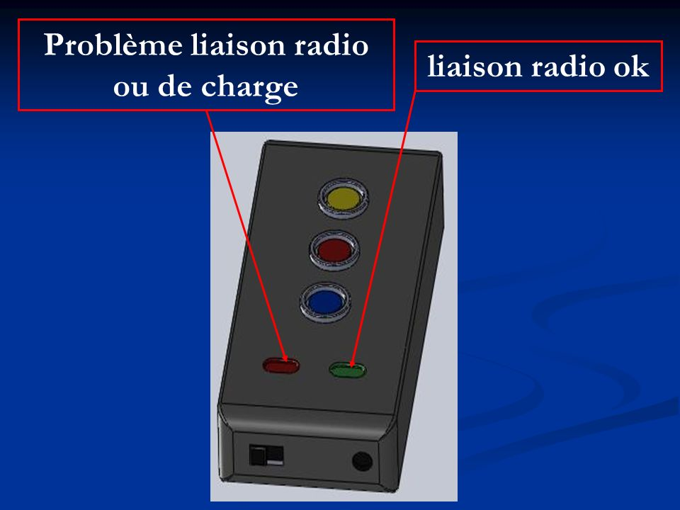 Problème liaison radio ou de charge liaison radio ok
