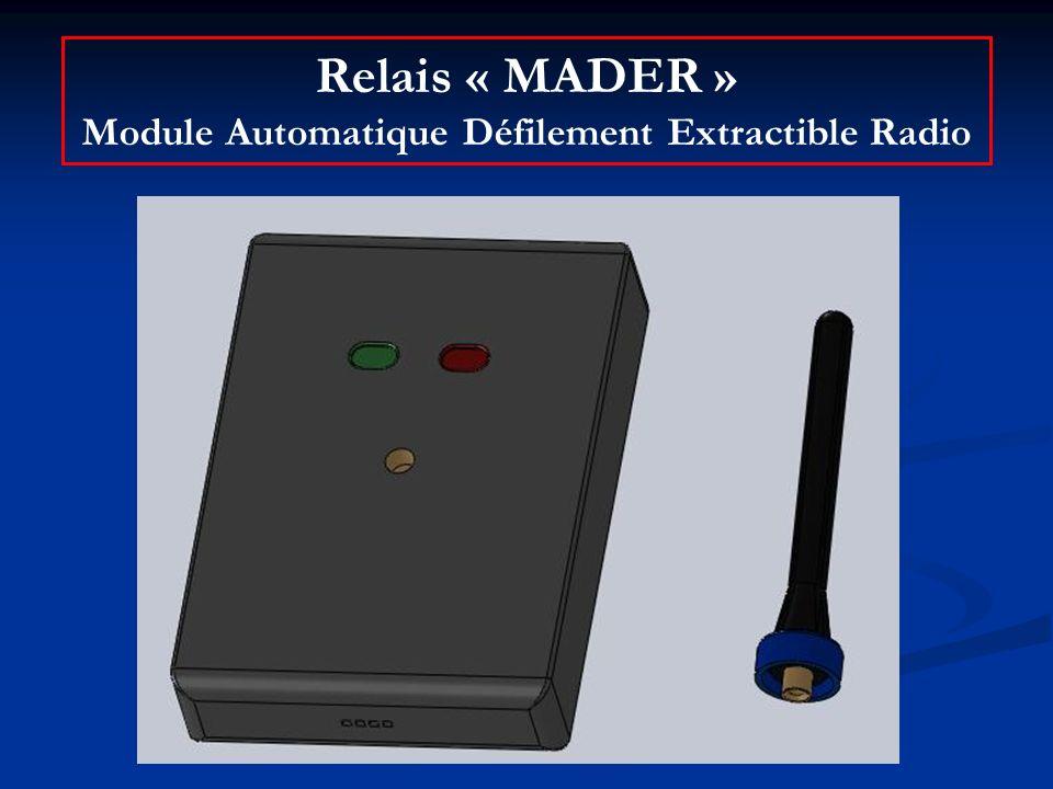 Relais « MADER » Module Automatique Défilement Extractible Radio