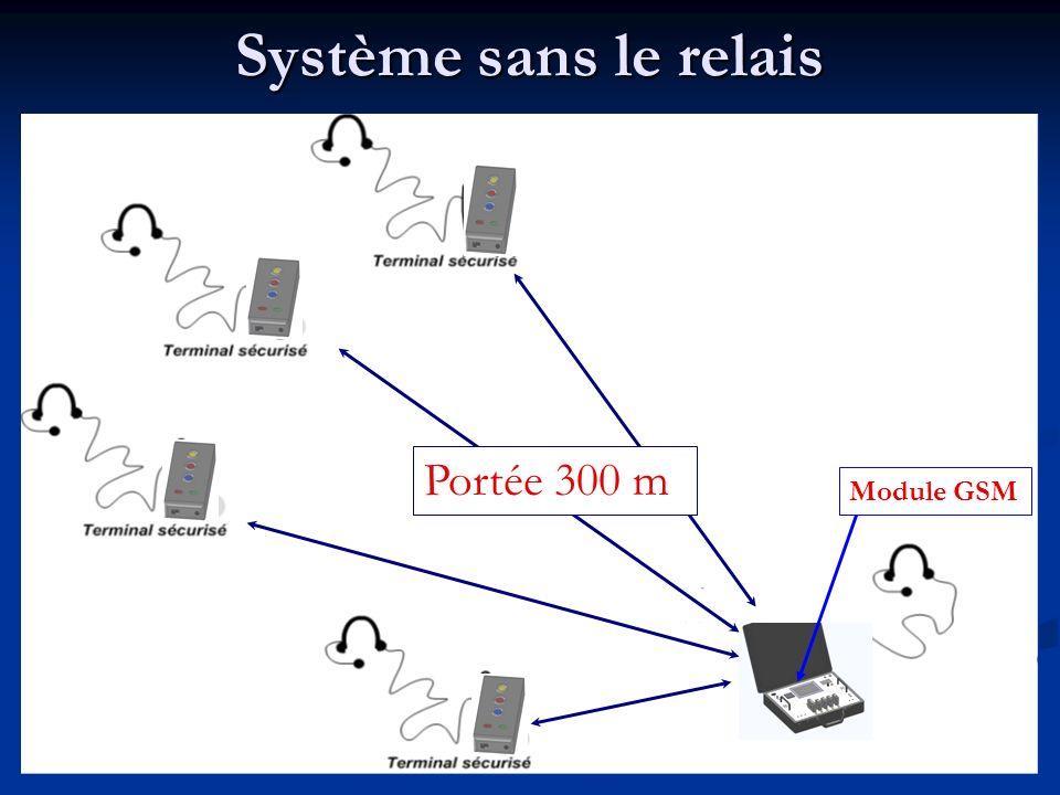 Système sans le relais Module GSM Portée 300 m