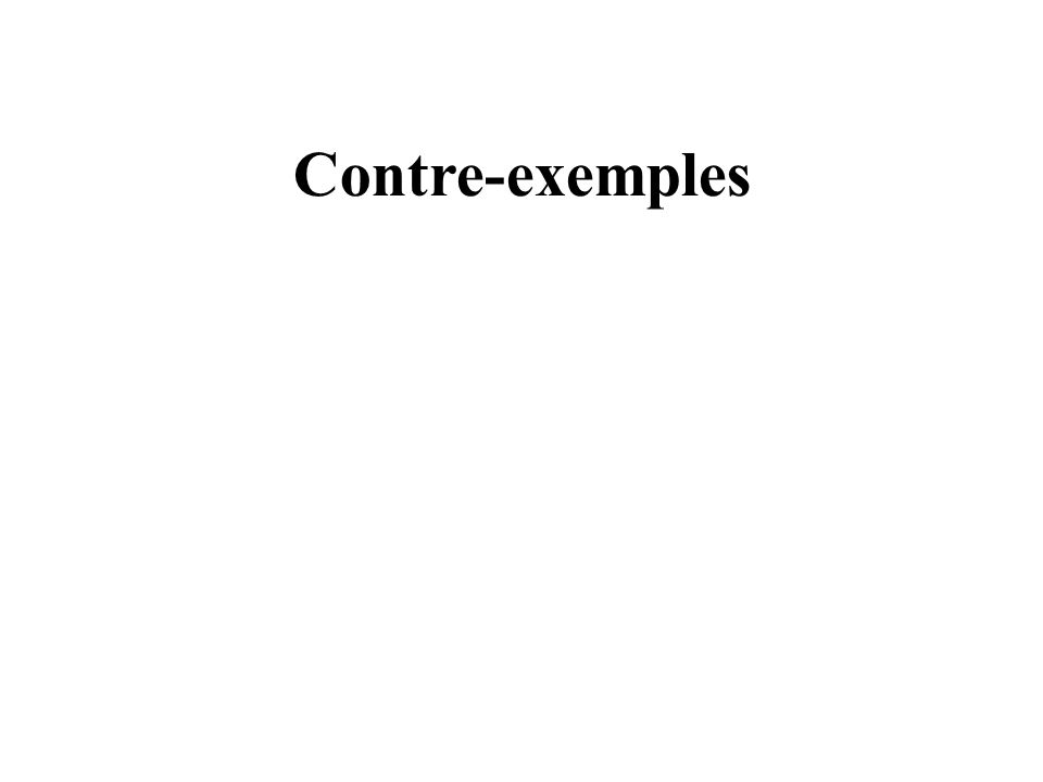 Contre-exemples