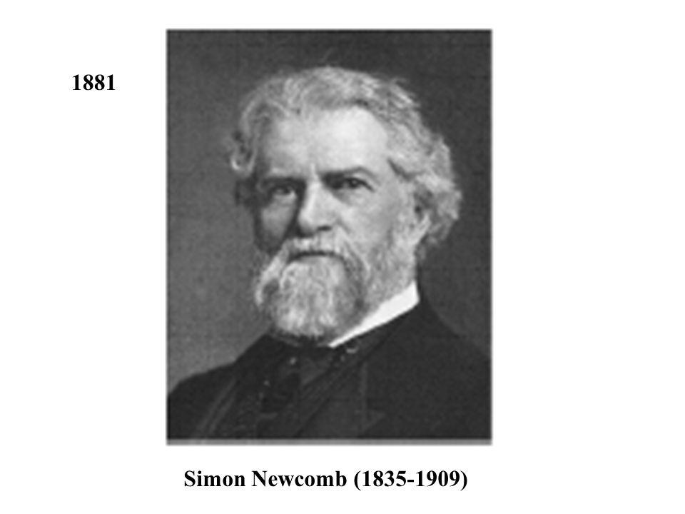 Simon Newcomb (1835-1909) 1881