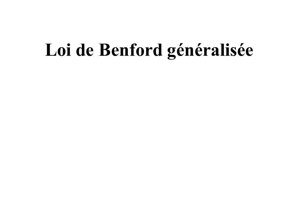 Loi de Benford généralisée