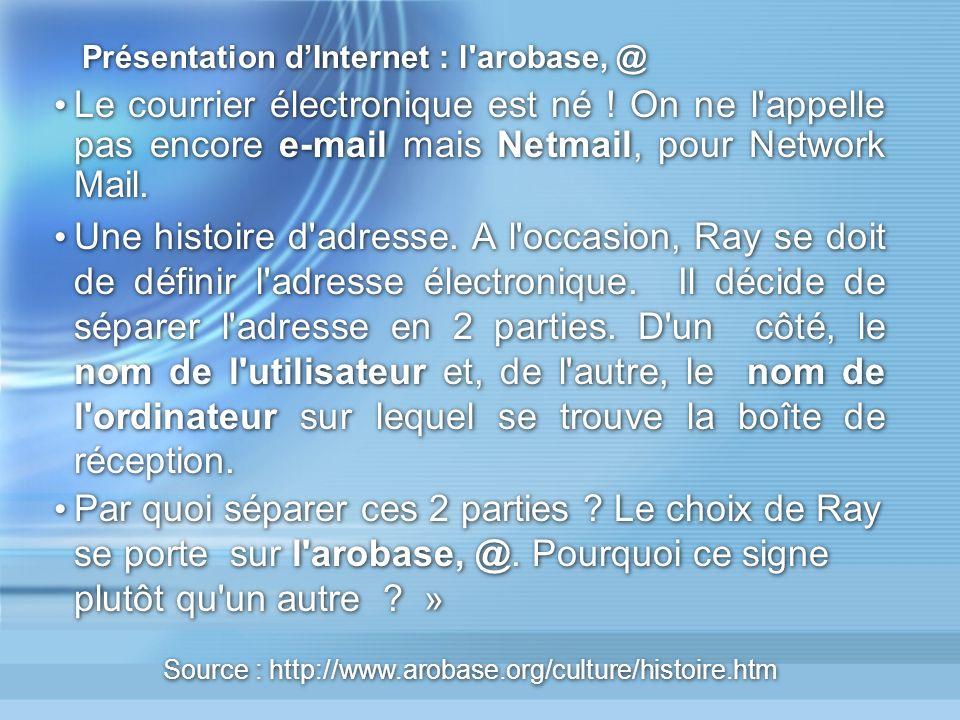 Présentation dInternet : Les « classes » de sites Statiques : Les pages de ces sites et leur contenu, sont mises à jour de manière manuelle et périodiquement par le Webmestre.
