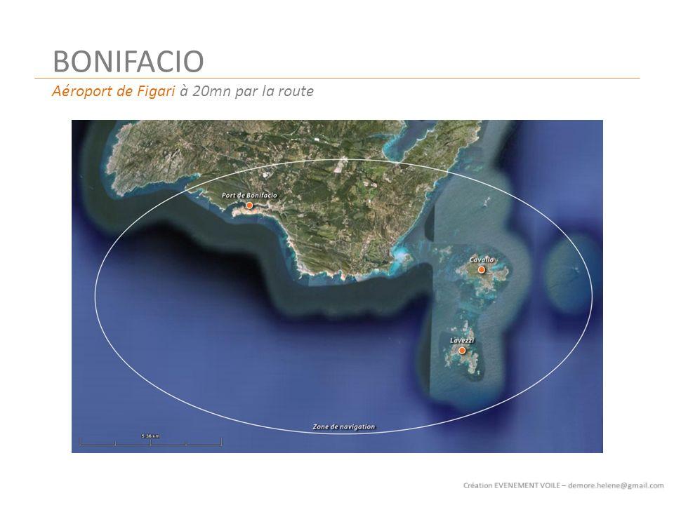BONIFACIO Aéroport de Figari à 20mn par la route