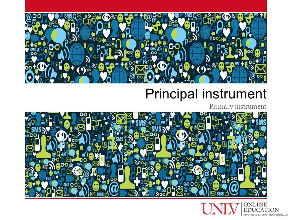 Principal instrument Primary instrument