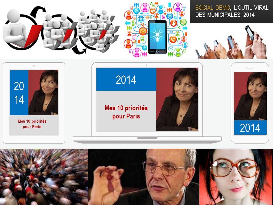 SOCIAL DÉMO, LOUTIL VIRAL DES MUNICIPALES 2014 20 14 Mes 10 priorités pour Paris Mes 10 priorités pour Paris