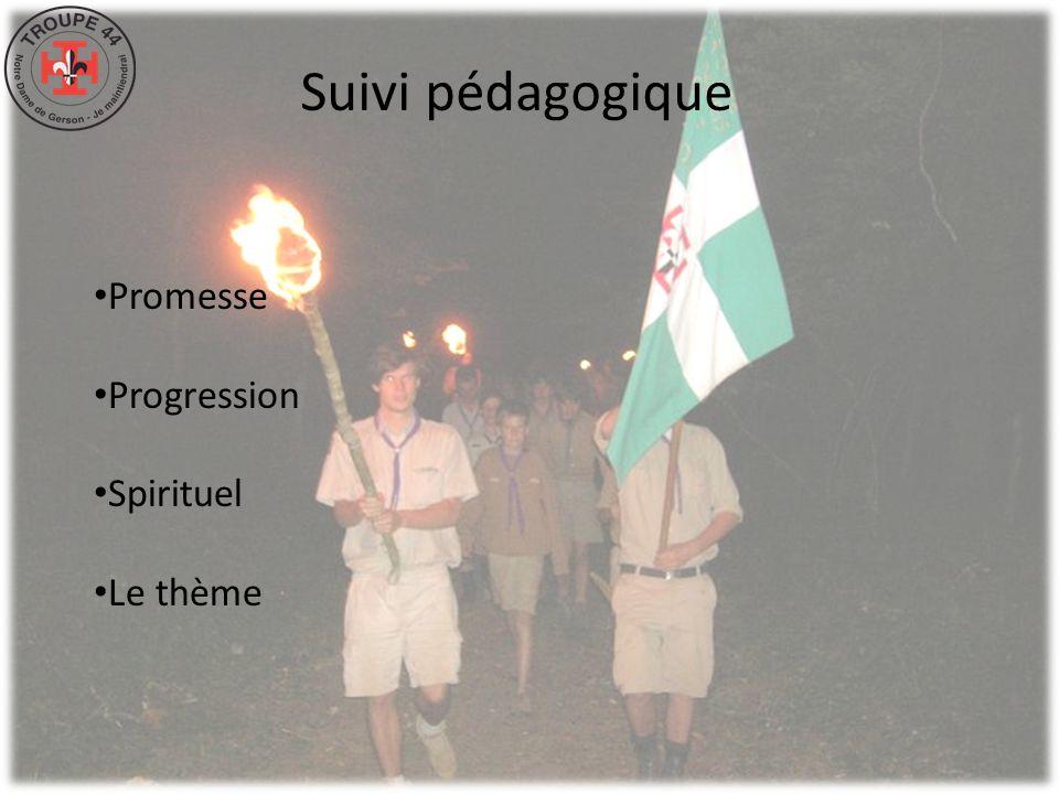 Suivi pédagogique Promesse Progression Spirituel Le thème