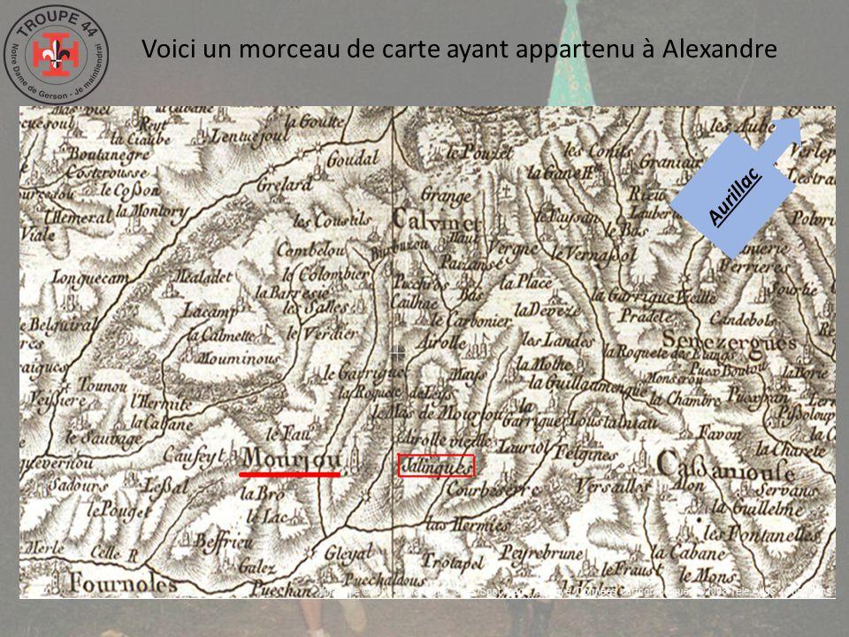 Voici un morceau de carte ayant appartenu à Alexandre Aurillac