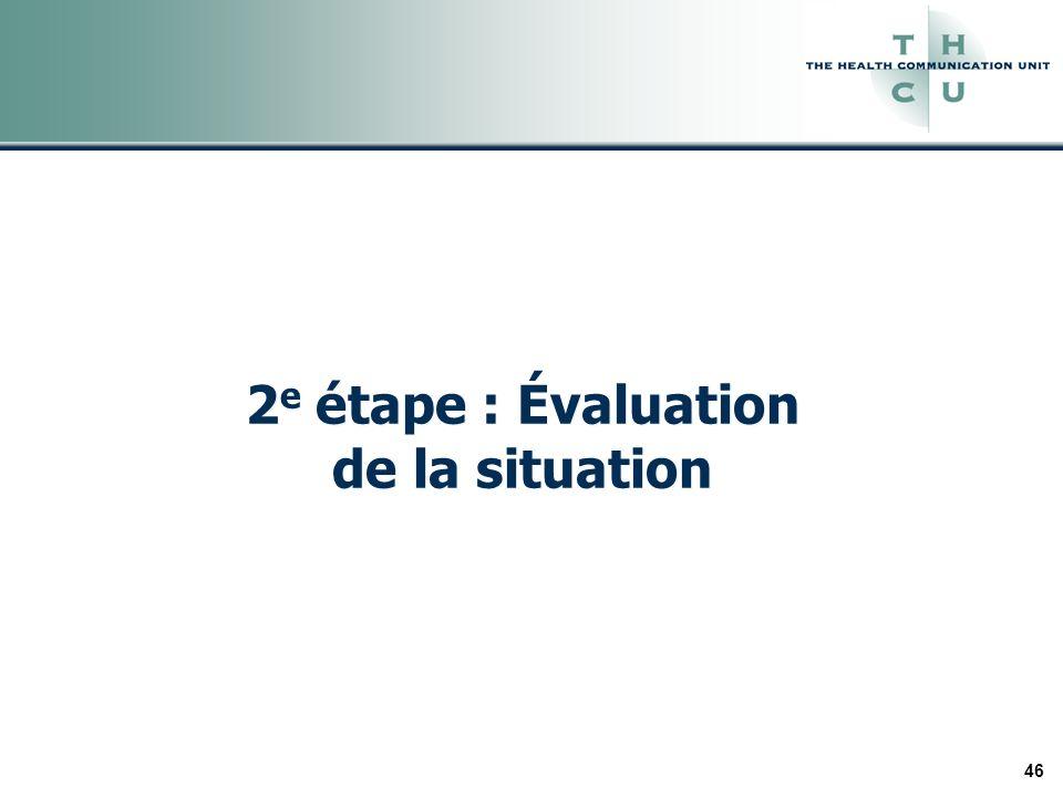 46 2 e étape : Évaluation de la situation
