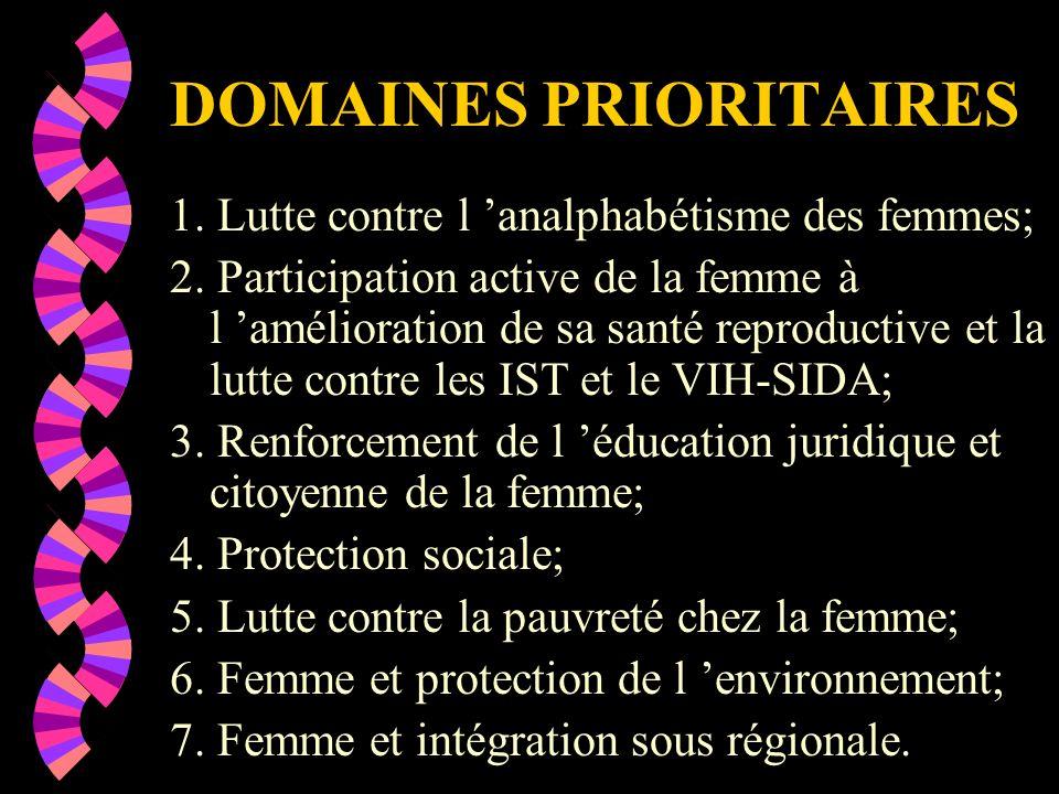 PLAN D ACTION POUR LA PROMOTION DE LA FEMME 2002-2006