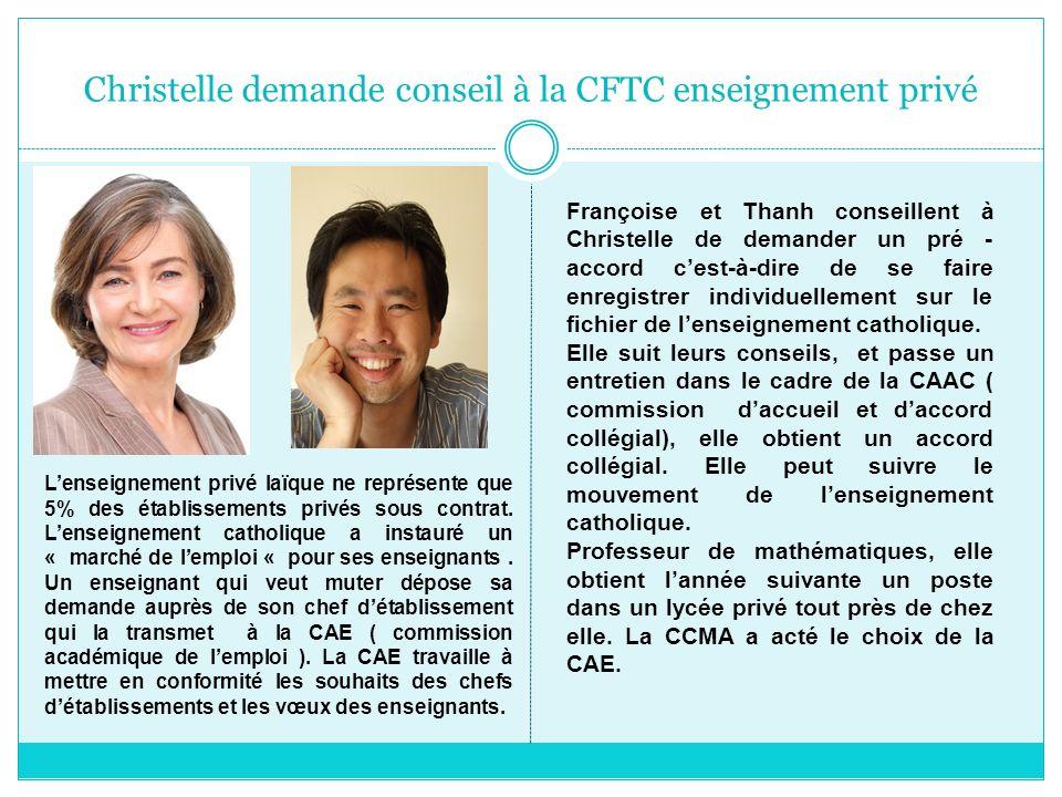 Christelle demande conseil à la CFTC enseignement privé Lenseignement privé laïque ne représente que 5% des établissements privés sous contrat. Lensei