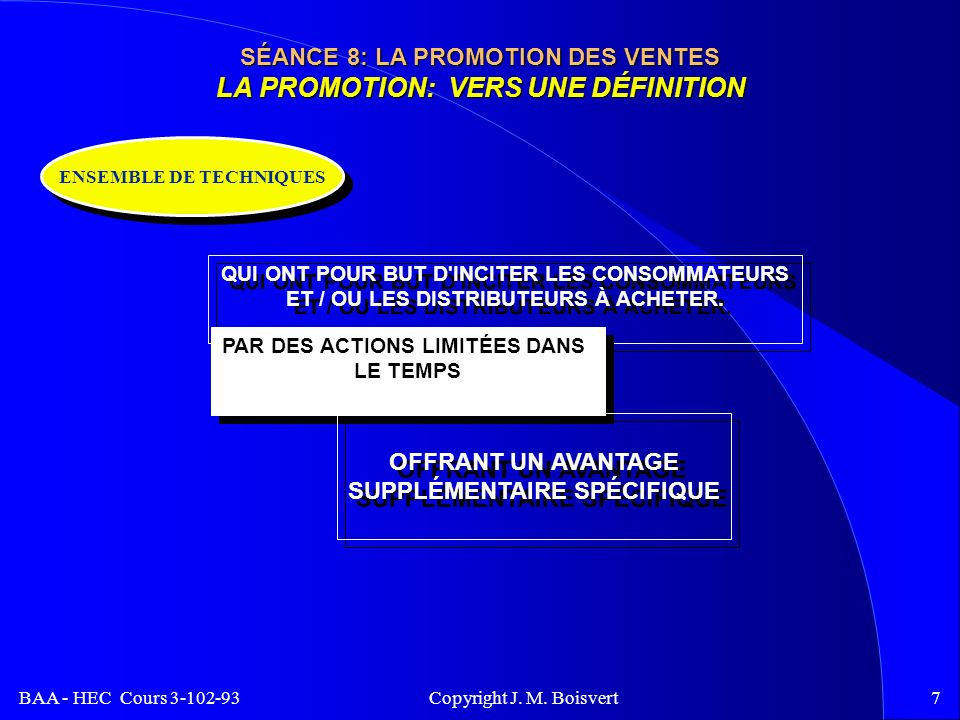 BAA - HEC Cours 3-102-93 Copyright J. M.