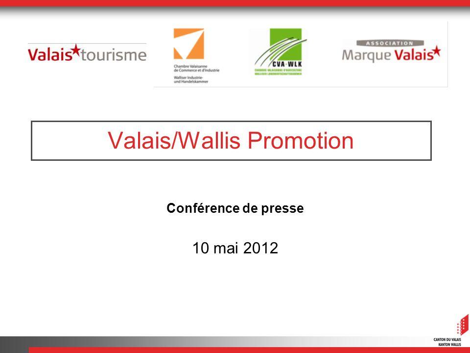Valais/Wallis Promotion Conférence de presse 10 mai 2012