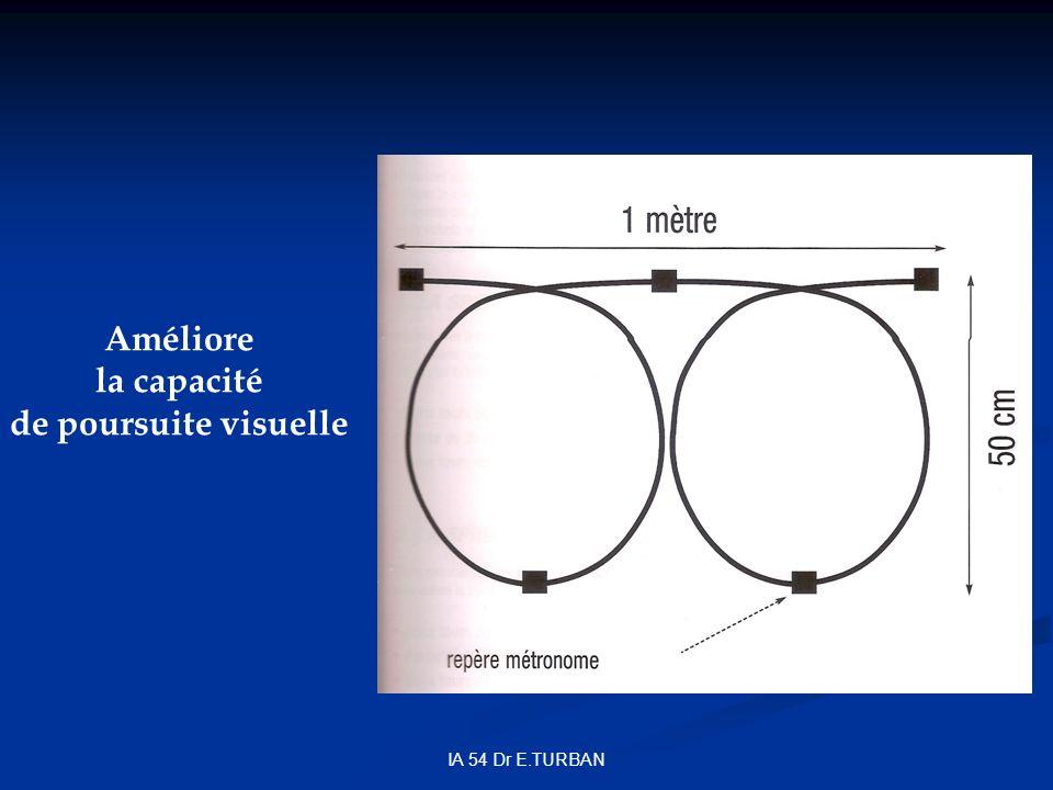 IA 54 Dr E.TURBAN Améliore la capacité de poursuite visuelle
