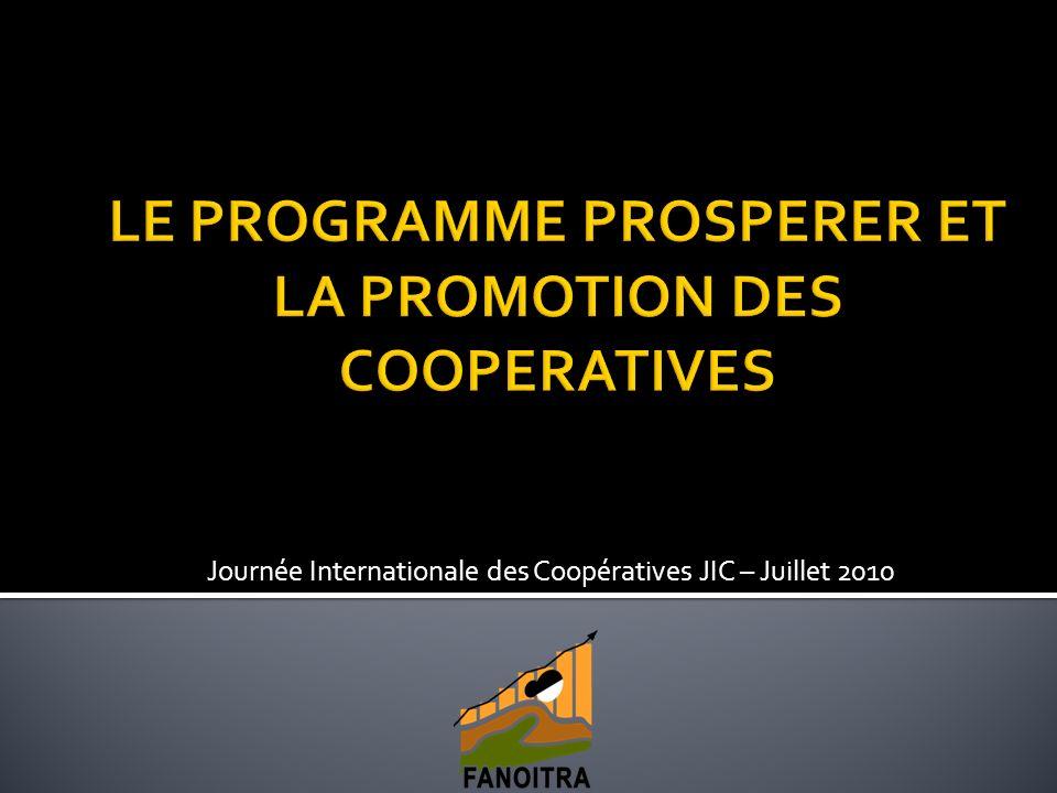 Journée Internationale des Coopératives JIC – Juillet 2010