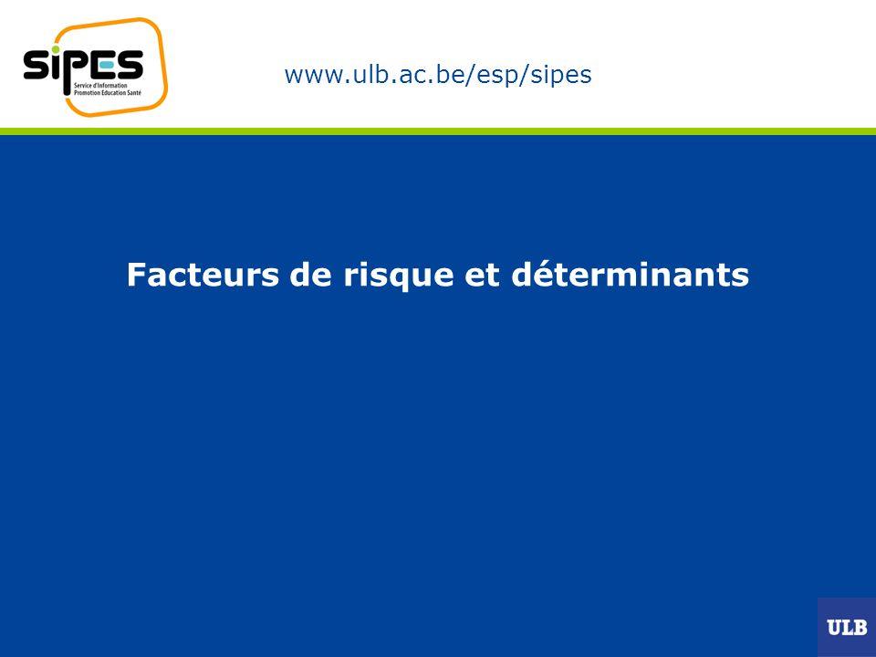 www.ulb.ac.be/esp/sipes Facteurs de risque et déterminants