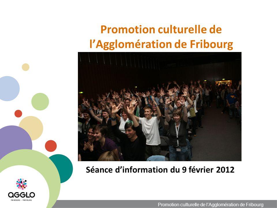 Promotion culturelle de lAgglomération de Fribourg Séance dinformation du 9 février 2012