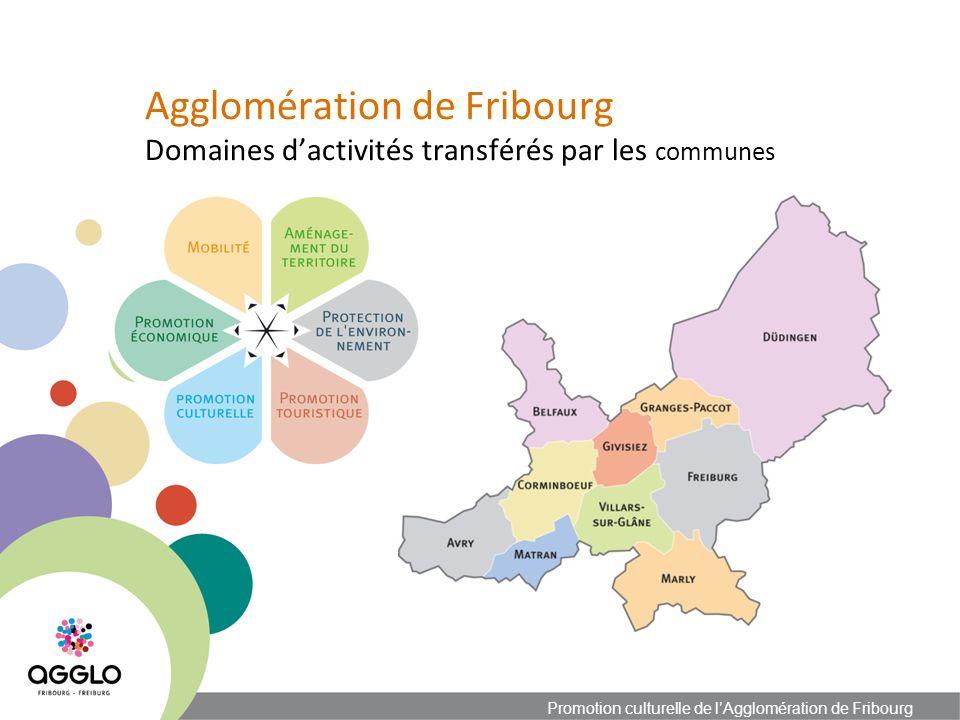 Agglomération de Fribourg Affectation des ressources Promotion culturelle de lAgglomération de Fribourg Budget 2012 de lAgglomération: Budget global de fonctionnementCHF26639300 Budget Promotion culturelleCHF1700000