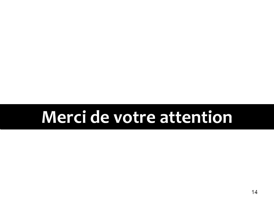 14 Merci de votre attention