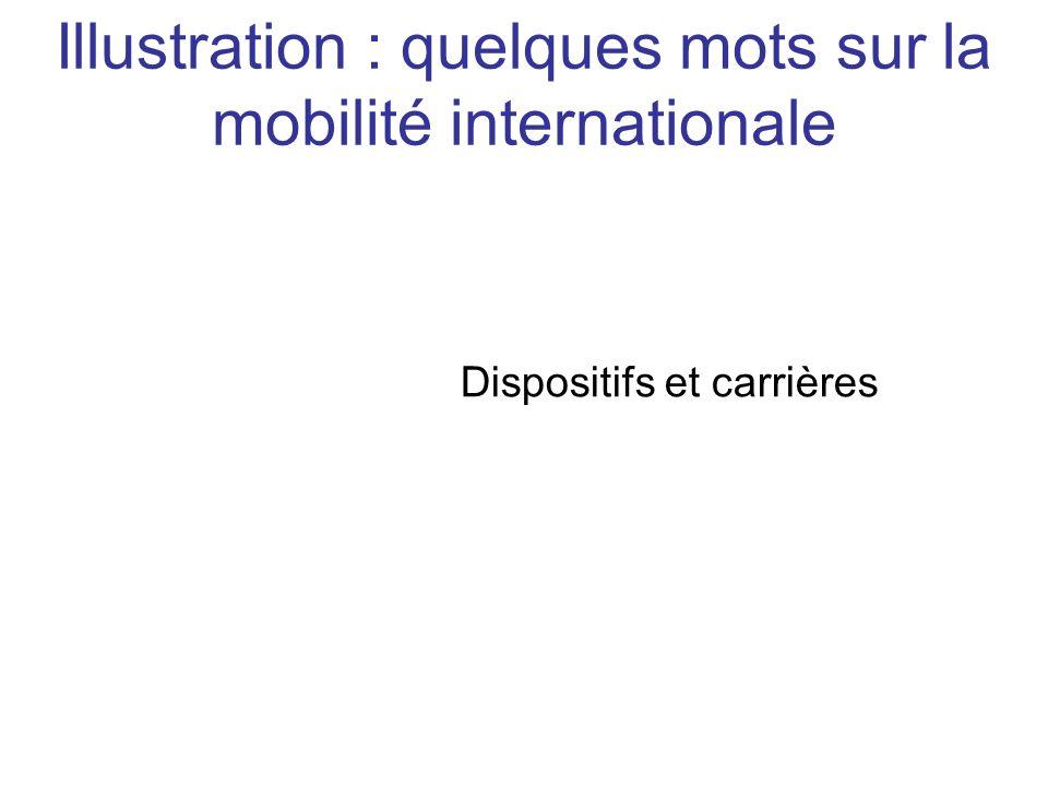 Dispositifs et carrières Illustration : quelques mots sur la mobilité internationale