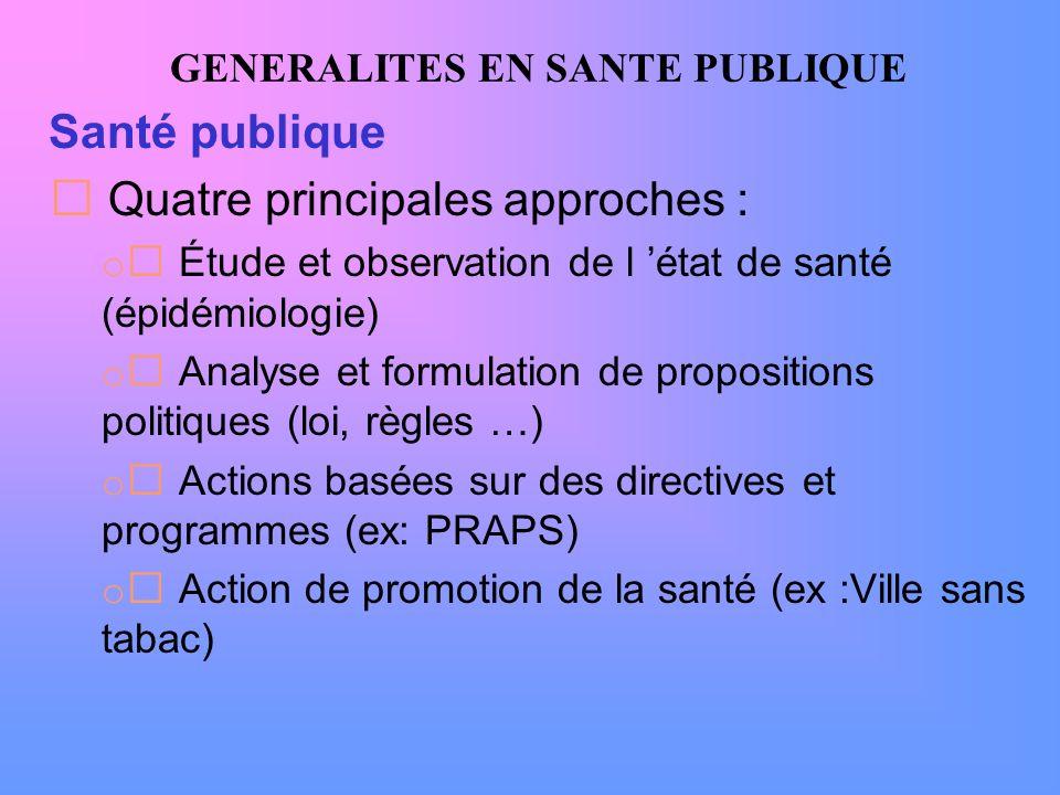 GENERALITES EN SANTE PUBLIQUE Éducation pour la santé 3.