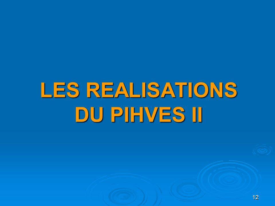 12 LES REALISATIONS DU PIHVES II